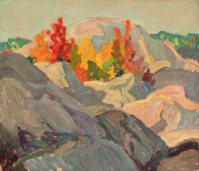 Autumn Foliage, Against Grey Rock