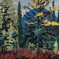 Tamaracks and Blue Hill