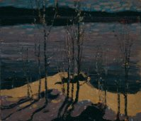 Moonlight and Birches