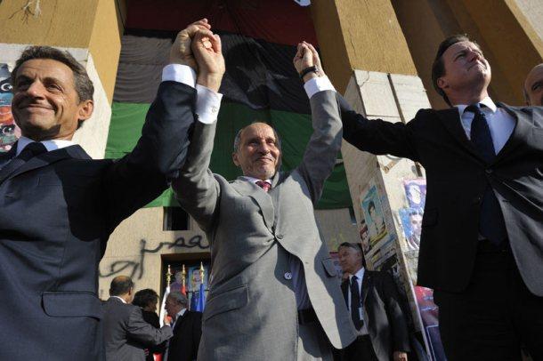 Cameron and Sarkozy Libya Visit