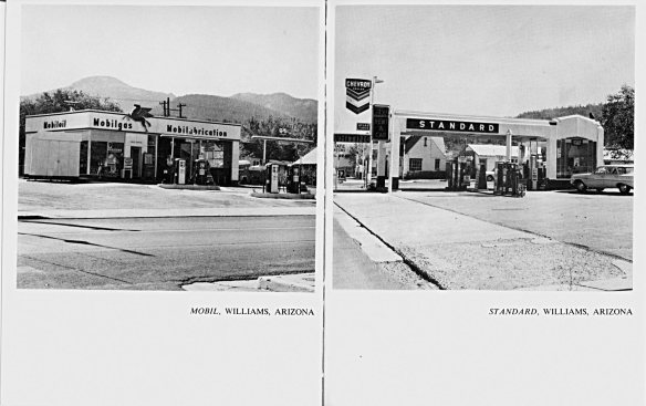 Ed Ruscha, 'Mobil, Williqams, Arizona' and 'Standard, Williams, Arizona', Twentysix Gasoline Stations (Alhambra, California, 1962)