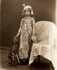 Maharaja Venkat Raman Singh (b. 1876, r. 1880-1918) of Rewa, c.1885