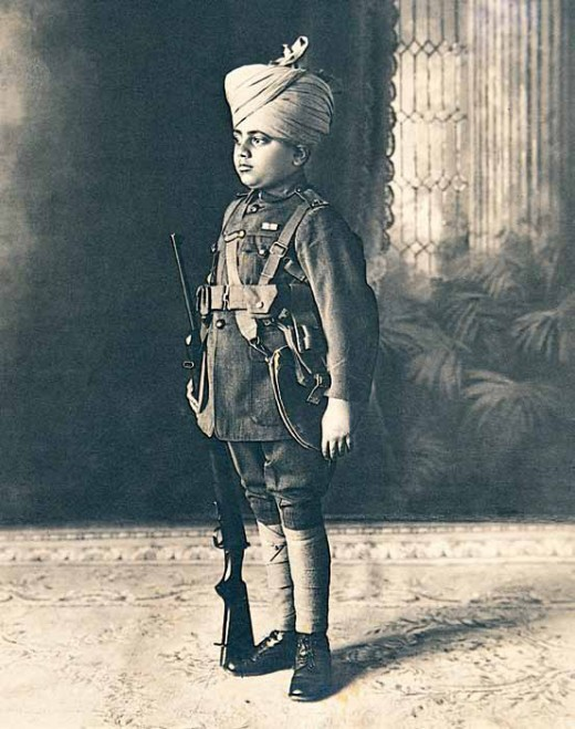 Prince Jiwaji Rao Scindia (1916-1961) of Gwalior, c.1920