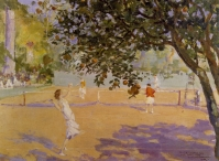 Tennis Under the Orange Trees