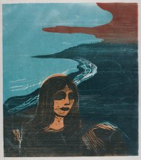 Woman's Head against the Shore