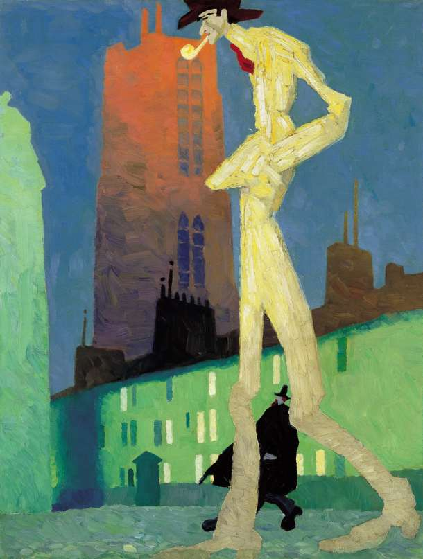 Lyonel-Feininger-The-White-Man