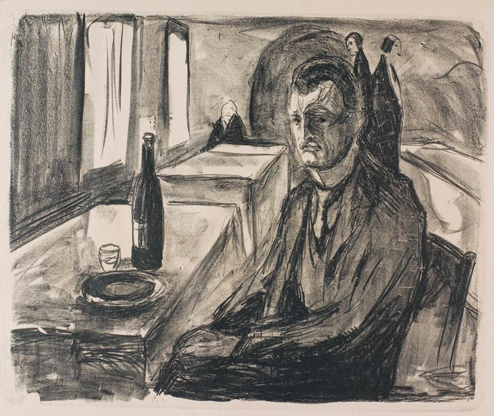 Self-portrait with Bottle of Wine