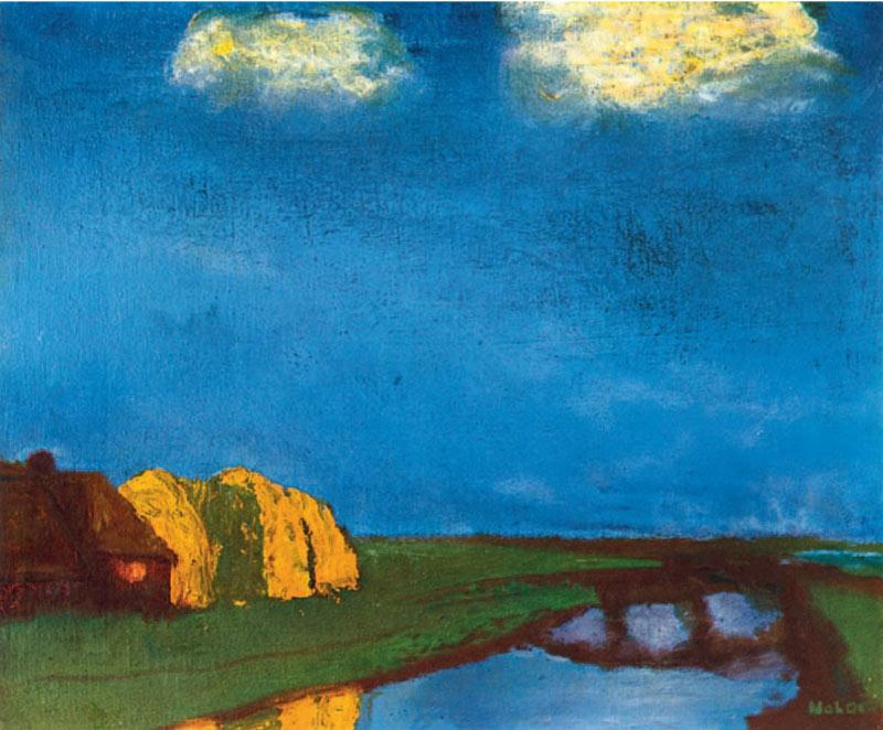 Frisian Farm on a Canal