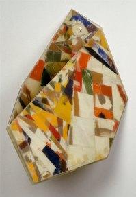 Garth Evans, Double Message, 1990, epoxy resin, fibreglass, paint over cardboard, 76.2 x 48.3 x 50.8 cm