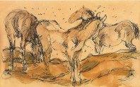 Pferde auf der Weide (Horses in a field), 1910/11