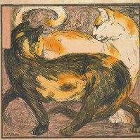 Zwei Katzen (Two Cats), 1909/10