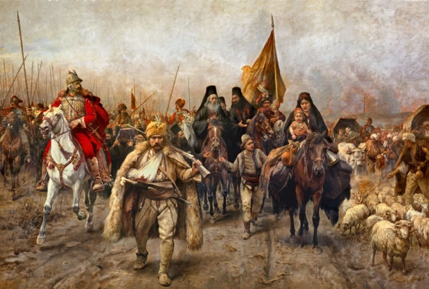 The Moving of the Serbs