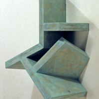 Garth Evans, Canal No. 44, 1983, plywood, 49.5 x 43.3 x 25.4 cm, private collection