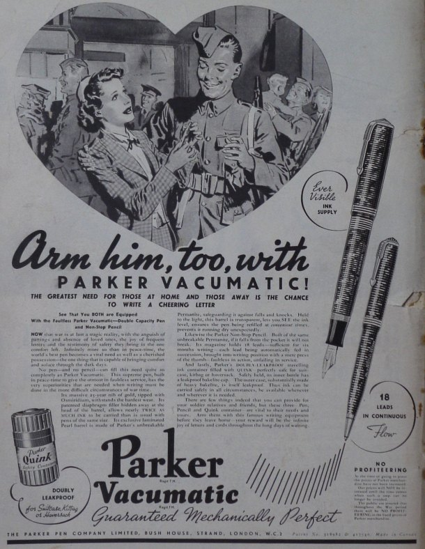 Parker Pens in Picture Post