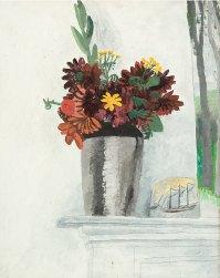 Autumn Flowers on a Mantelpiece