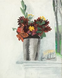 Autumn Flowers on a Mantelpiece