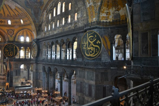 Interior of Hagia Sophia from the Gallery