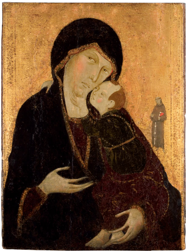 Sanctity Pictured, Madonna and Child with Saint Francis