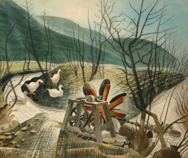 Eric Ravilious, The Waterwheel