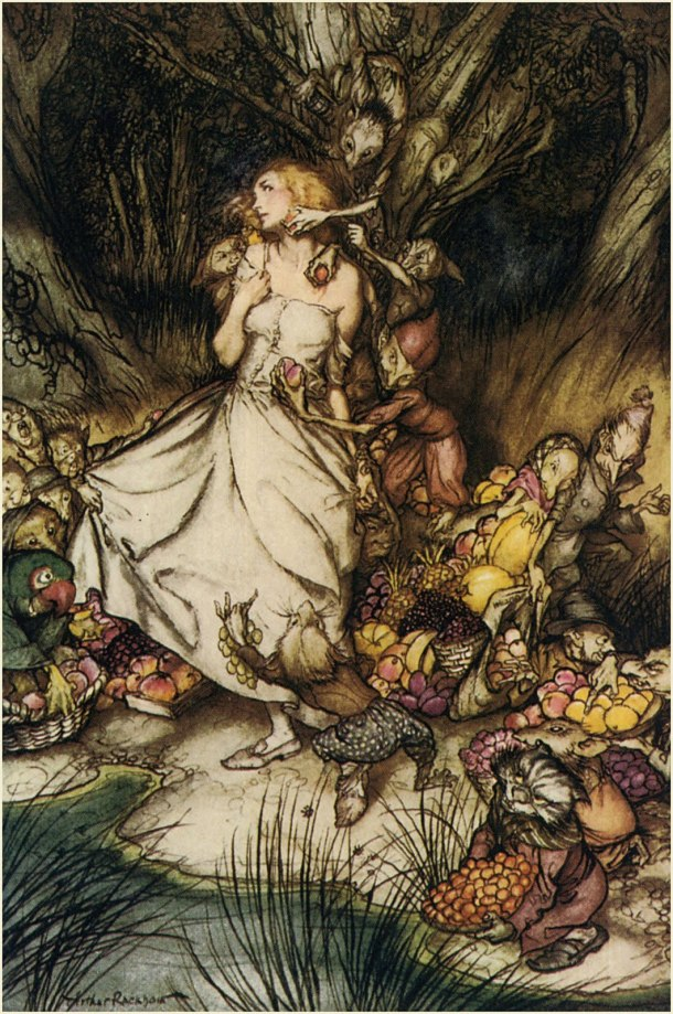 Arthur Rackham, Art, The Land of the Green Man, Carolyne Larrington, Book, Mythology