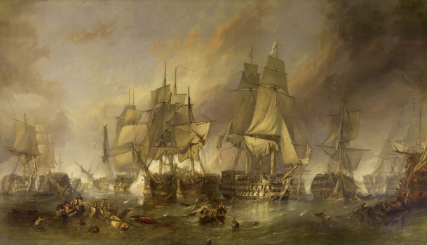 Art, Napoleonic Wars, Battle of Trafalgar, William Clarkson Stanfield