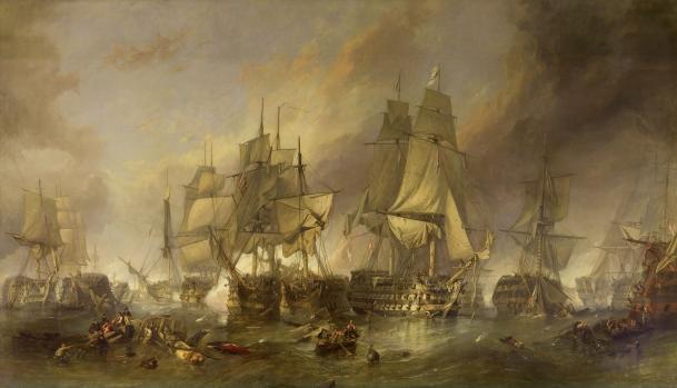 Art, Napoleonic Wars, Battle of Trafalgar, William Clarkson Stanfield