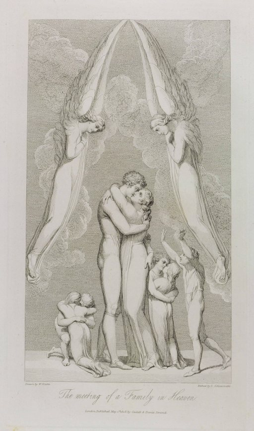 The Meeting of a Family in Heaven, pl.4, illustration from 'The Grave, A Poem' by William Blake (1757-1827) engraved by Luigi Schiavonetti (1765-1810), 1808 (etching)