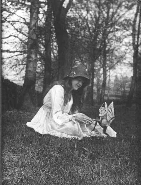 Plate 33 Second Cottingley Fairy Photo
